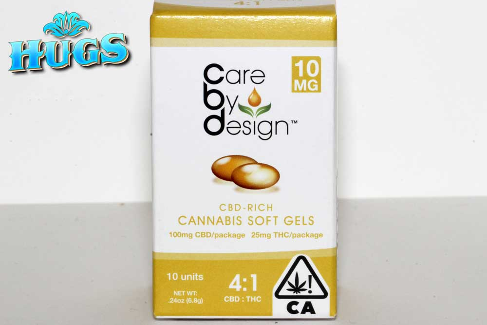 Sacramento medical marijuana Dispensary Strain CARE BY DESIGN 4-1 GEL CAPS